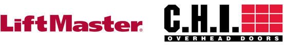 Liftmaster and CHI Garage Door Logos